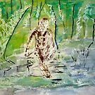 Man Pensive by a Stream by RoyAllen Hunt