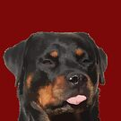 Cute Rottweiler With Tongue Out Vector by taiche