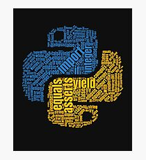 PYTHON Programming Wordcloud Photographic Print