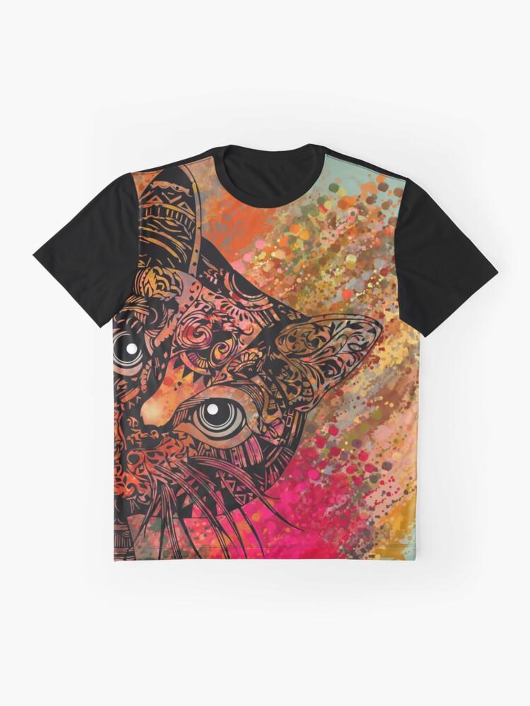 Vista alternativa de Camiseta gráfica Cat Mandala