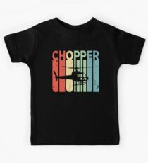 Chopper Helicopter Vintage Retro Kids Tee