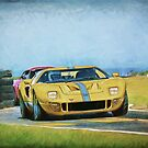 Yellow Ford GT40 by Stuart Row