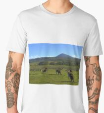 Clarence Peak and a few of the locals Men's Premium T-Shirt