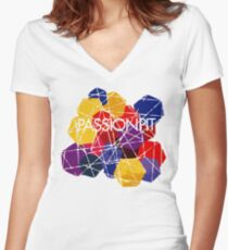 Chunk Of Passion Women's Fitted V-Neck T-Shirt