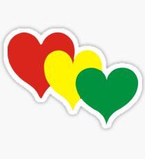 Rasta Hearts Sticker