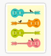 Birds on Guitar Strings Sticker