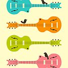 Birds on Guitar Strings by JazzberryBlue