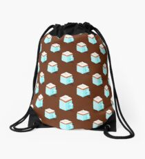 Isometric cappuccino cups pattern. Drawstring Bag
