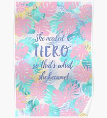 She became her hero  Poster