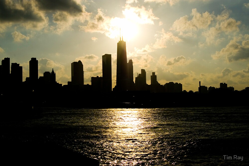 Chicago Sunset by Tim Ray