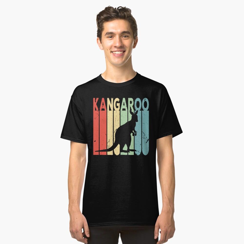 Kangaroo Vintage Retro Classic T-Shirt Front