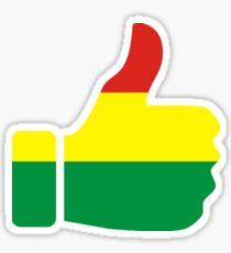 Rasta Thumbs Up  Sticker
