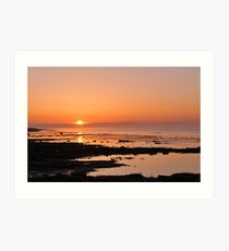 Sunrise over the Baltic Art Print
