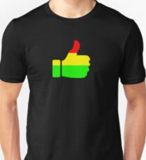 Rasta Thumbs Up (on black) T-Shirt