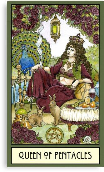 Queen of Pentacles, Card by WinonaCookie