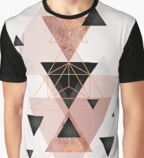 Geometric Triangles in blush and rose gold Graphic T-Shirt