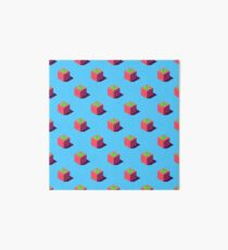 Isometric strawberries pattern. Art Board