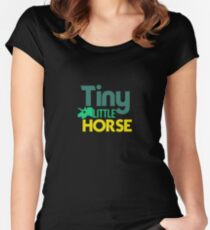Tiny Little Horse - Ponies, Horses, Little Horses, Unicorn Women's Fitted Scoop T-Shirt