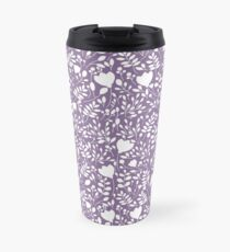 Purple Floral Print Travel Mug