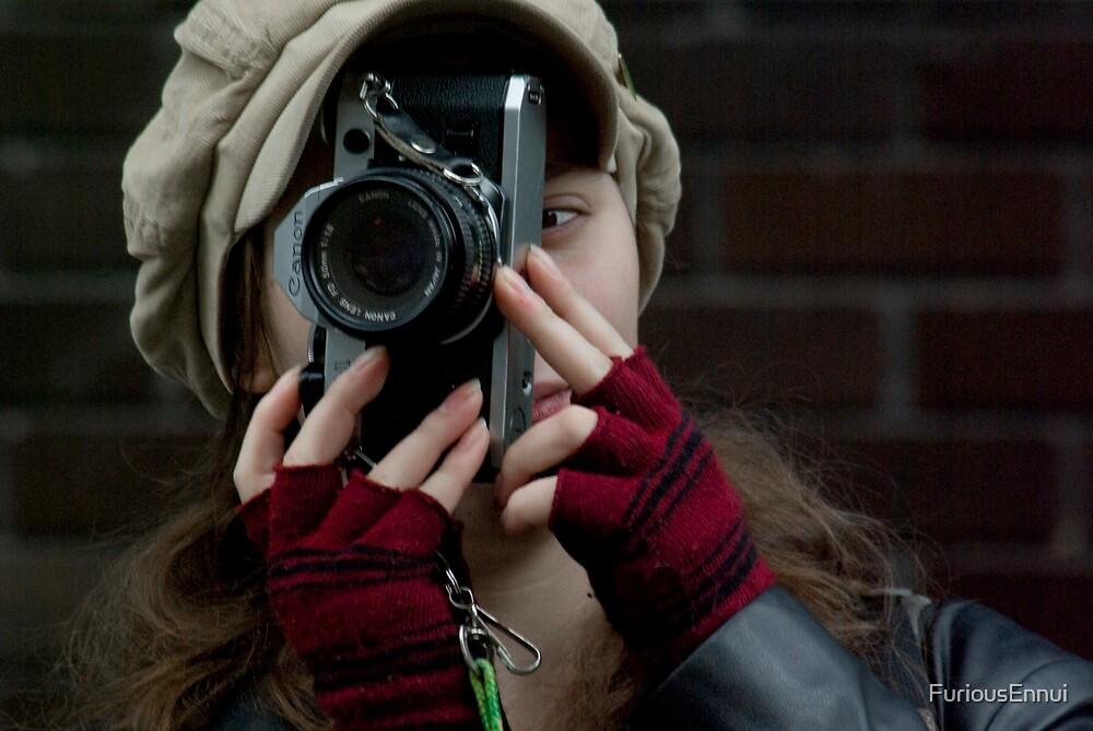 Miss B behind the camera by FuriousEnnui