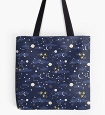 cosmos and stars Tote Bag