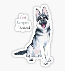 East European Shepherd dog Sticker