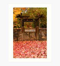 Autumn Gateway Art Print