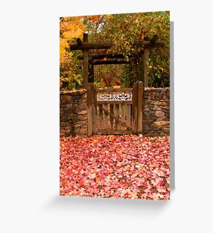 Autumn Gateway Greeting Card