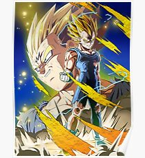 Dragon Ball Z Majin Vegeta Dokkan Battle Poster