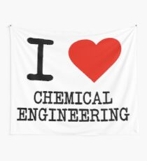 I Love Chemical Engineering Wall Tapestry