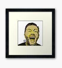 Ricky Gervais Illustration  Framed Print