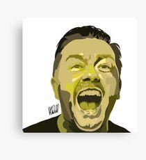 Ricky Gervais Illustration  Canvas Print