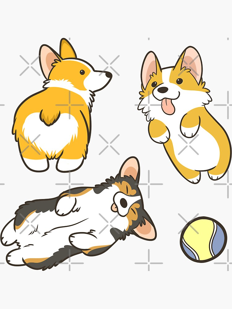 Corgi set by pawlove