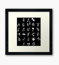 Runes Framed Print