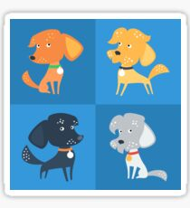 Cartoon cute funny dogs Sticker
