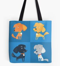 Cartoon cute funny dogs Tote Bag