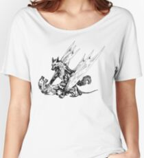 Wolf Dragon vs Lioness Women's Relaxed Fit T-Shirt