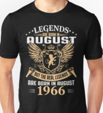 Legends Are Born In August 1966 T-Shirt