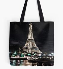Eiffel Tower At Night - Paris Tote Bag