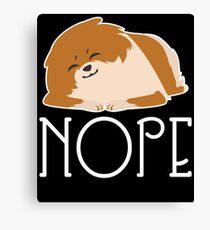 Nope Lazy Pomeranian Shirt Canvas Print