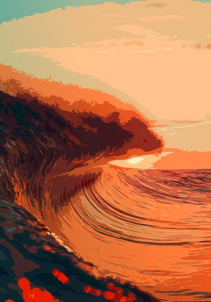 Sunset on the Ocean by Andrea Mazzocchetti