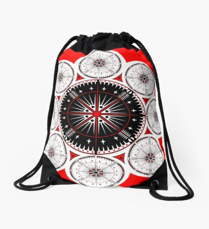 Tribal Gathering Drawstring Bag