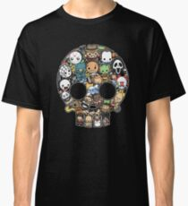 Horror Collage Funny Slasher Skull Classic T-Shirt