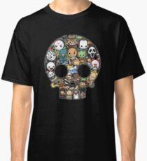 Horror Collage Funny Slasher Skull Classic T-Shirt