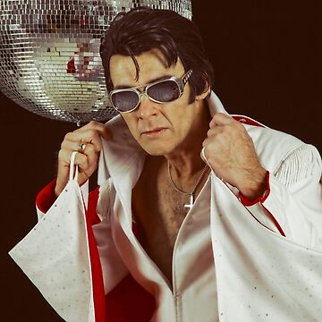 Elvis and the disco ball by MelBrackstone