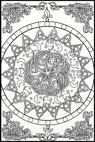 Pósters «Cat Tails - Nudo celta Mandala» de lozsart   Redbubble