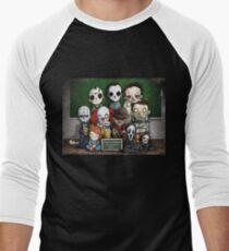 Horror Collage Funny Overlook High Men's Baseball ¾ T-Shirt