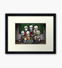 Horror Collage Funny Overlook High Framed Print