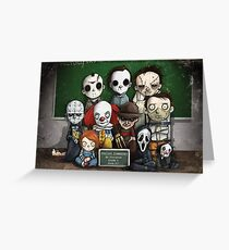 Horror Collage Funny Overlook High Greeting Card