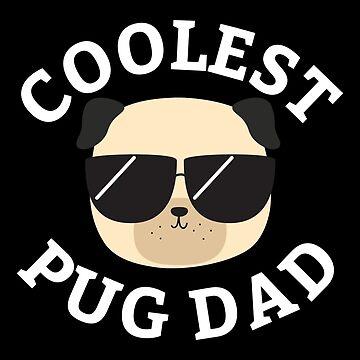El mejor papá pug de cartoonbeing